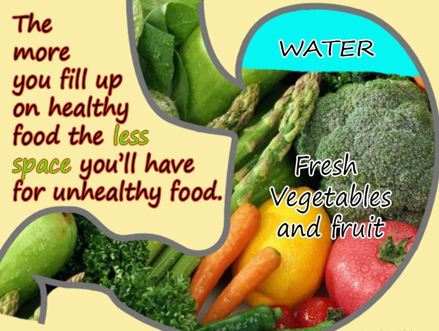 the more you fill up on healthy food